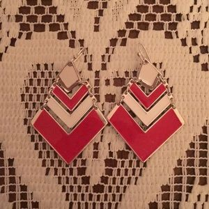 Jewelry - Red and White earrings
